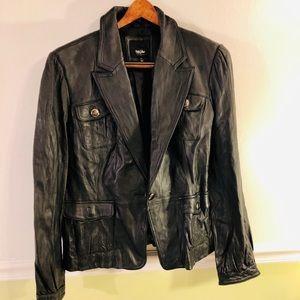 Mossimo Leather Black Jacket
